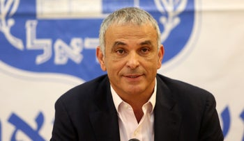 Finance Minister Moshe Kahlon at a press conference focusing on his deal with Prime Minister Benjamin Netanyahu regarding the new public broadcaster on March 30, 2017.