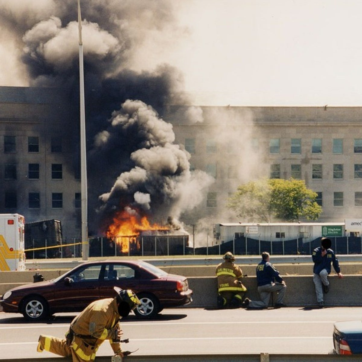 First responders at the Pentagon, 11 September, 2001.