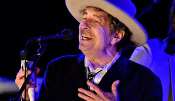Bob Dylan performs during The Hop Festival in Paddock Wood, Kent, U.K.