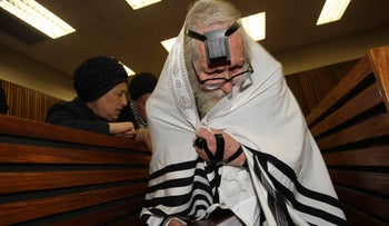 Rabbi Eliezer Berland in court, August 11, 2016.