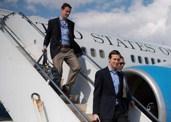 Jared Kushner arrives in Baghdad, Iraq, in this April 3, 2017.