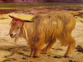 'The Scapegoat,' a 1854 painting by William Holman Hunt.
