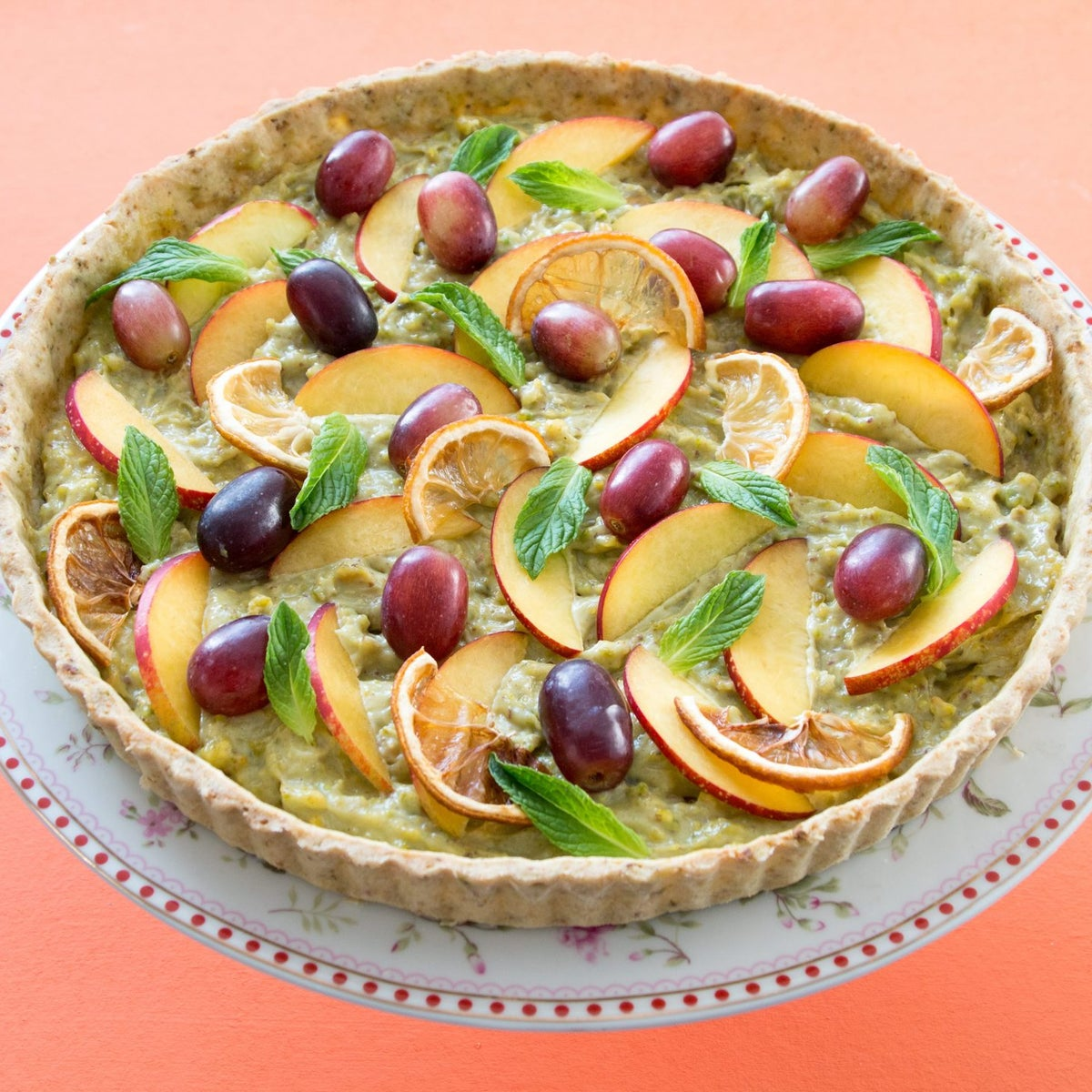 Pistachio cream tart. Not as intimidating as you might think.