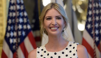 Ivanka Trump speaks at an event in the Eisenhower Executive Office Building in Washington, May 9, 2017.