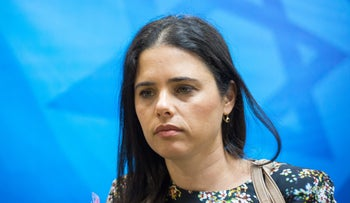 Israeli Justice Minister Ayelet Shaked at the weekly cabinet meeting, May 14, 2017.