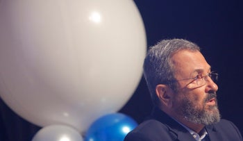 Ehud Barak during a conference in Rishon Letzion, August, 2016.