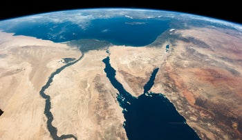 A view of the Middle East from the International Space Station