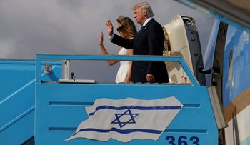 U.S. President Donald Trump and First Lady Melania Trump board Air Force One to travel to Rome from Ben Gurion International Airport in Tel Aviv, Israel, May 23, 2017.