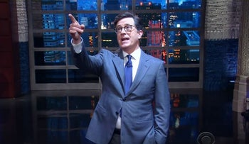Stephen Colbert discusses Trump's visits to the world's holy sites with God in his May 23rd monologue.