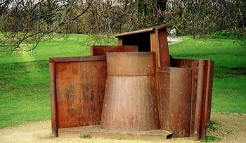 Dream City (1996), rusting steel, by Anthony Caro, at the Yorkshire Sculpture Park