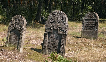 Jewish graves in the Polish town of Przytyk, where Jews would take the brunt of blame for the pogrom that erupted on March 9, 1936.