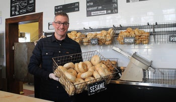 Robb Abrams has created a new career for himself as a bagel maker in Salt Lake City.