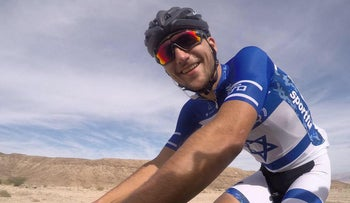 A member of the Cycling Academy team