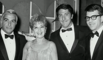 Actor Dustin Hoffman and his family