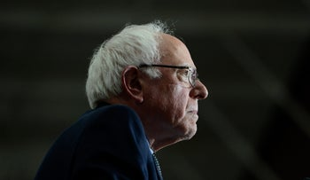 Democratic presidential candidate, Sen. Bernie Sanders, I-Vt., speaks during a rally Friday, March 11, 2016, in Summit, Ill.