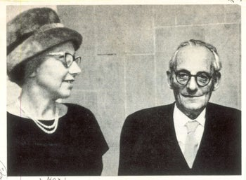 Max Brod and Esther Hoffe.