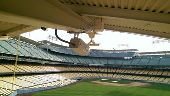 A Replay Technologies camera at a baseball stadium in the United States.