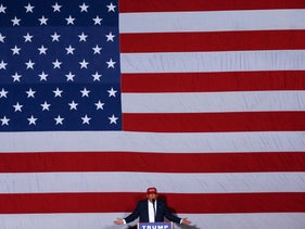 Republican presidential candidate Donald Trump speaks during a campaign rally in Boca Raton, Fla., Sunday, March 13, 2016.
