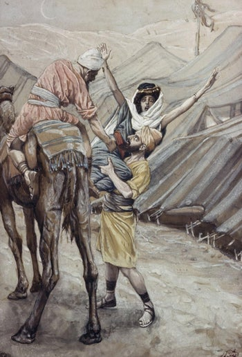 The abduction of Dinah, James Tissot