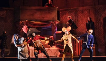 A scene from the opera La Cenerentola by the Israel Opera.