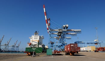 Under the proposal, goods could travel by rail from Israel's Mediterranean port of Haifa through Jordan to Saudi Arabia's Gulf port of Dammam.