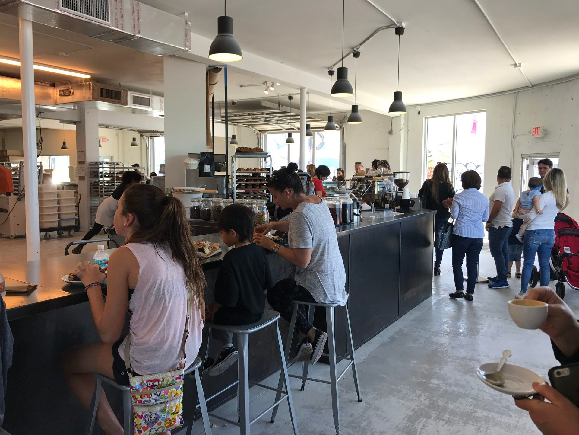 The interior of Bakery in Wynwood, Miami.
