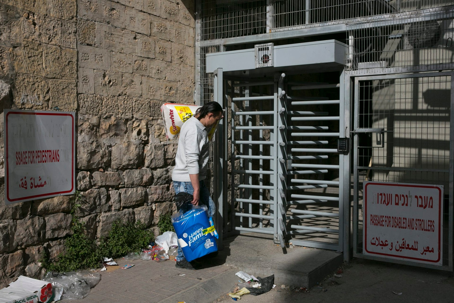A checkpoint in Hebron.