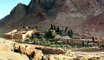 Saint Catherine's monastery in the Sinai peninsula of Egypt May 18, 2005.