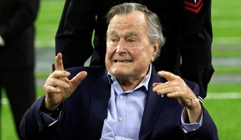 Former President George H.W. Bush in February 2017.