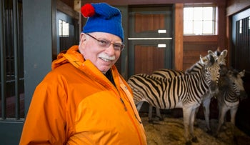 Michael Steinhardt visits animals in the private zoo at his home in Mount Kisco, March 15, 2013