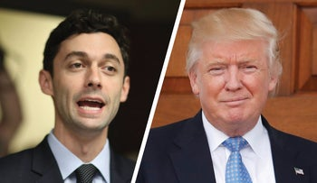 Jon Ossoff and Donald Trump.