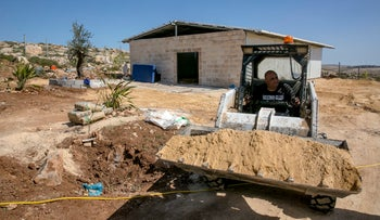 Assaf Maman near his new Jewish-Arab West Bank outpost