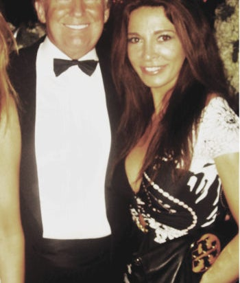 Mira Tzur met Donald and Melania Trump at a New Year's Eve party in 2011.