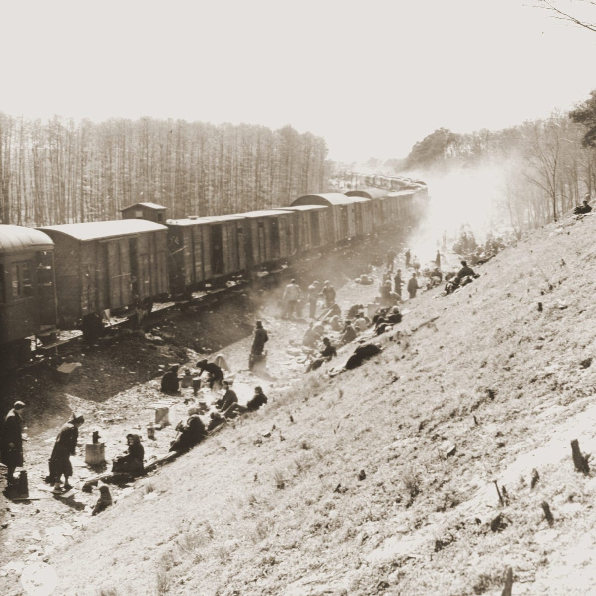 A day after the liberation of the train at Farsleben.