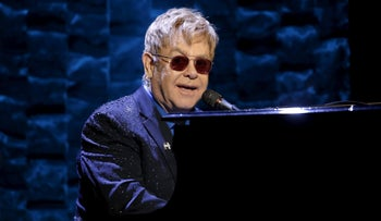 Elton John performs at Radio City Music Hall in New York, March 2, 2016.