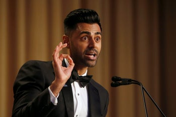 Hasan Minhaj of Comedy Central performs at the White House Correspondents' Association dinner in Washington, U.S. April 29, 2017.