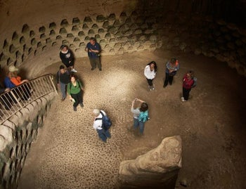 A bell-shaped cave with columbarium at Beit Guvrin