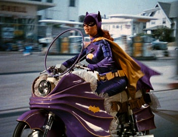 """The original Batgirl: Yvonne Craig, who portrays the crime-fighting female in the 1960s TV hit """"Batman"""" (died Aug. 17, 2015)."""