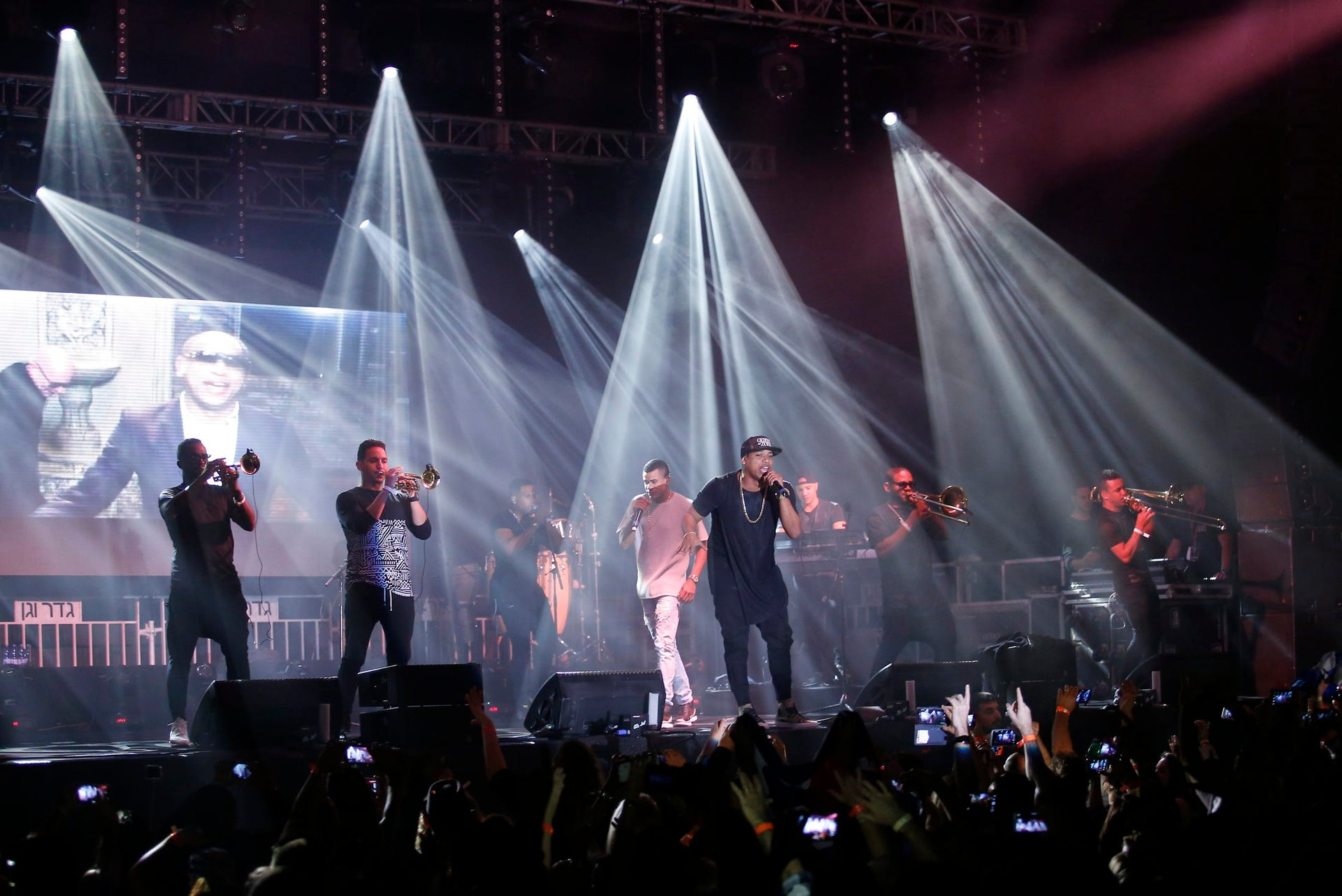 The Cuban band Gente De Zona perform in Tel Aviv, March 31, 2016.