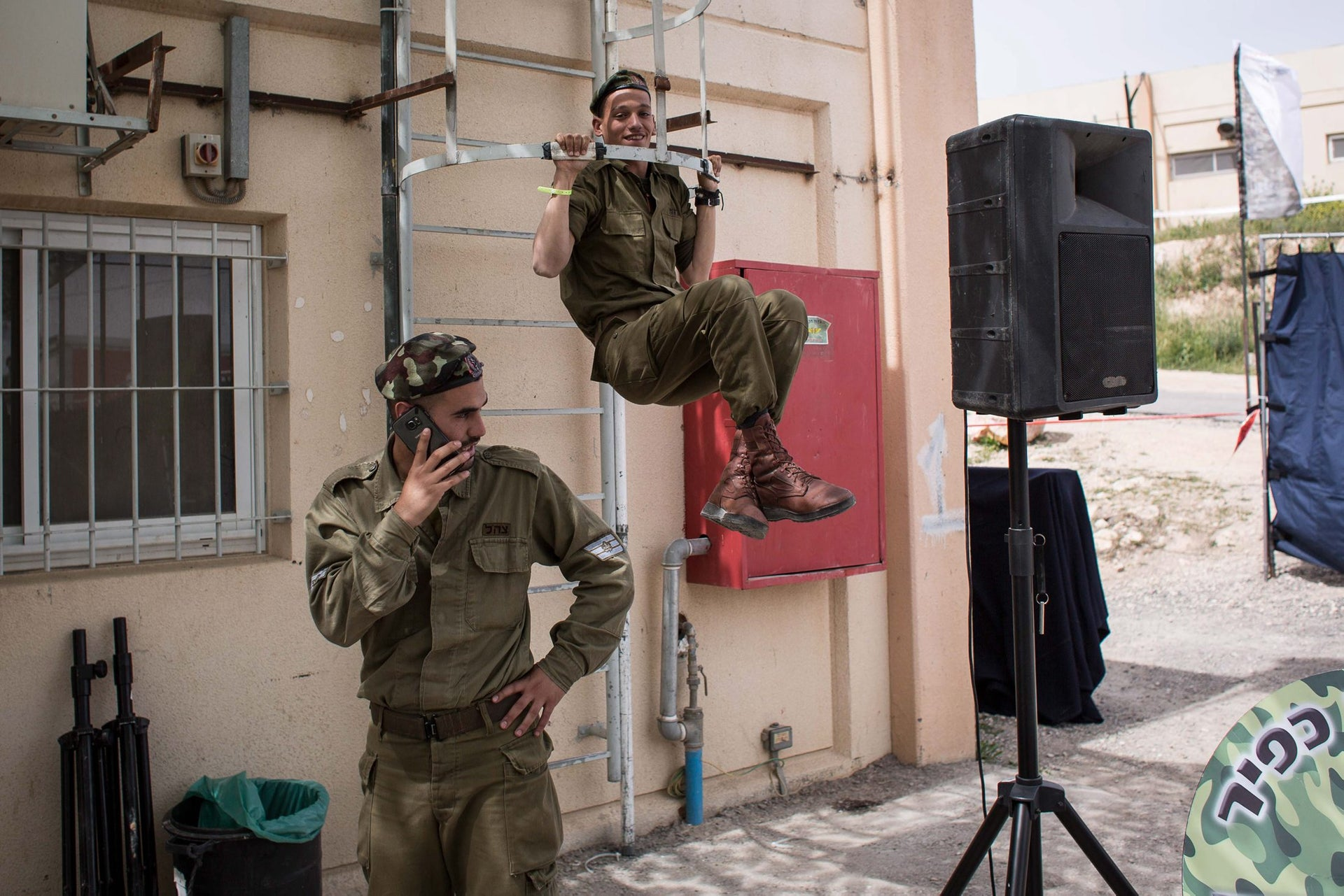 Soldiers at the Etzion Regional Brigade base, March 25, 2016.