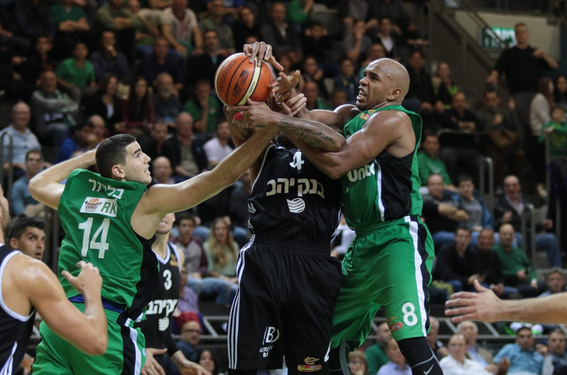 A basketball game between Maccabi Haifa and Hapoel Jerusalem, March 29, 2016.