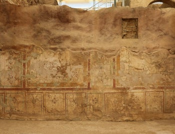 The remains of a mural in Ephesus before renovation.