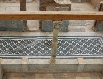 A luxuriously decorated floor in ancient Ephesus.