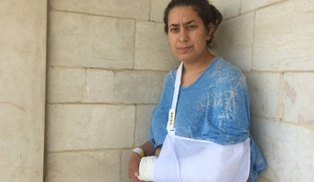 Sarah Brammer-Shlay, a protester whose arm was broken by police in Jerusalem on May 24, 2017.