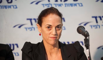Former Yesh Atid MK Ruth Calderon is one of the speakers at 'The Other Laila Lavan' in Tel Aviv on May 30, 2017.