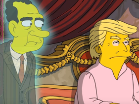 A screenshot from the Simpsons video