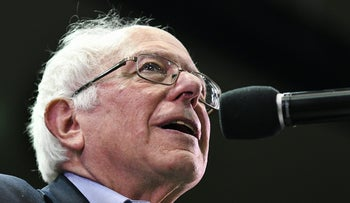 Sen. Bernie Sanders speaks on Saturday, May 20, 2017, at the Adams Center on the University of Montana campus, in Missoula, Mont.