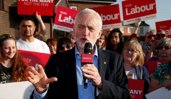 Jeremy Corbyn speaking in Rotherham, Britain, May 10, 2017.