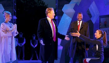 Delta Air Lines is pulling its sponsorship of New York's Public Theater for portraying Julius Caesar as the Donald Trump look-alike in a business suit who gets knifed to death on stage, according to its statement Sunday, June 11, 2017.