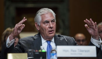 U.S. Secretary of State Rex Tillerson testifies during a State, Foreign Operations and Related Programs Subcommittee hearing on the State Department's FY2018 Budget on Capitol Hill on June 13, 2017 in Washington, D.C.